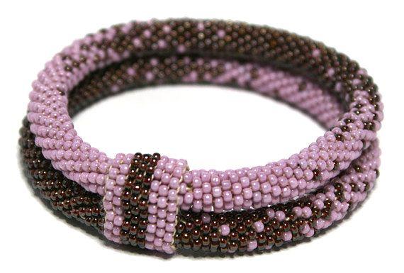 Double bracelet type Bangl with beads Japanese TOHO by Mulinka
