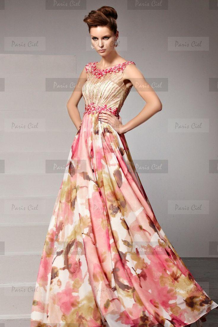 Mejores 7 imágenes de vestidos en Pinterest | Gasa estampada ...