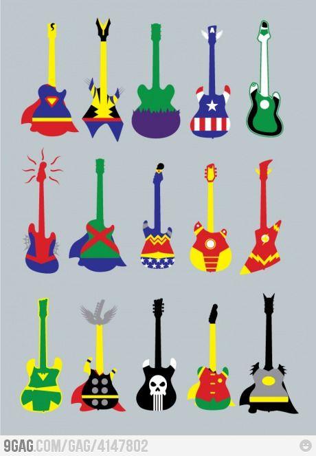 Guitar Heroes. Super-Heroes.