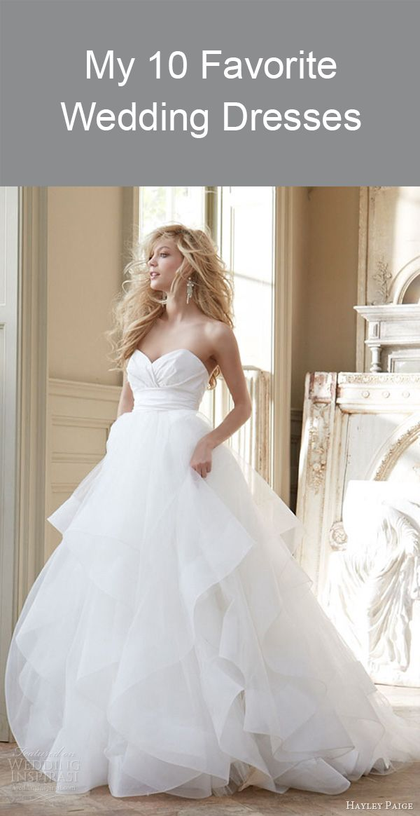 My 10 Favorite Wedding Dresses www.kardella.com