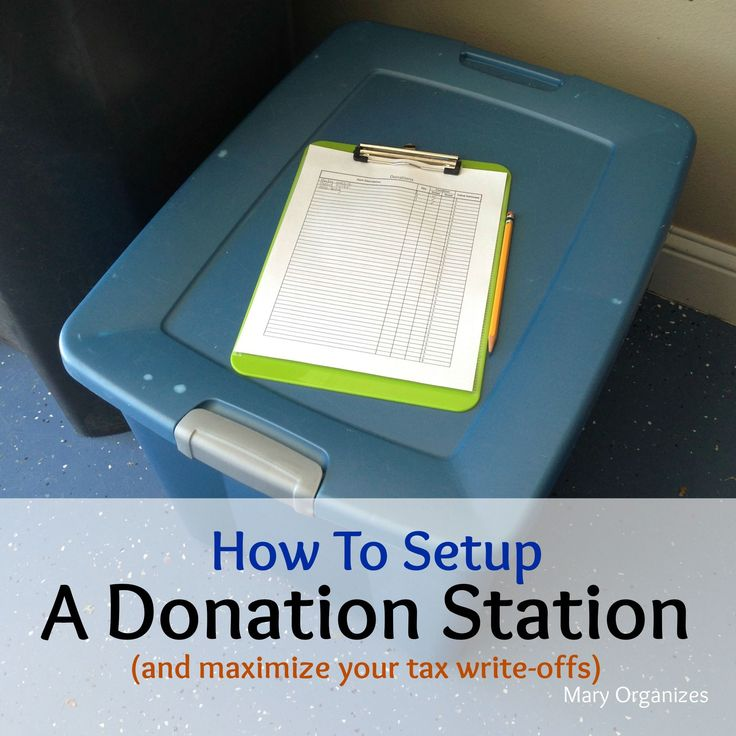 #organizing #printable #important #writeoffs #donation