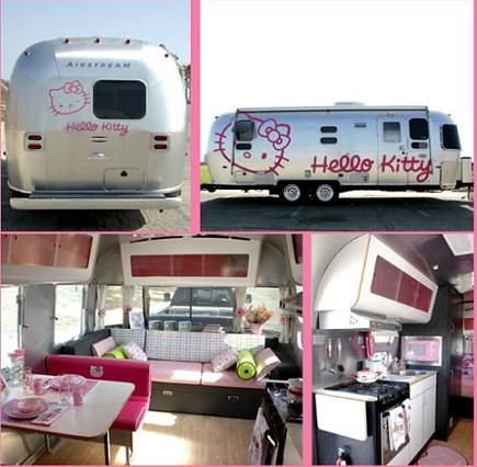 The Hello Kitty stuff could go, but the lines on the interior would really make the space seem bigger