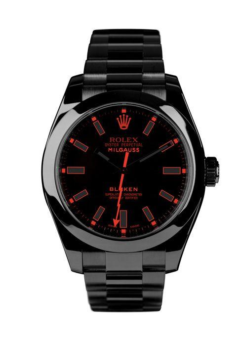 Farb-und Stilberatung mit www.farben-reich.com - Custom Blaken Rolex Milgauss