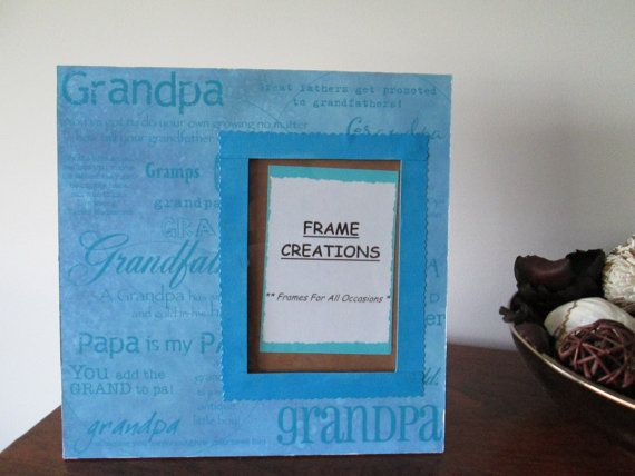 5x7 Grandpa Themed  Hand Decorated Picture Frame by FrameCreations, $15.00
