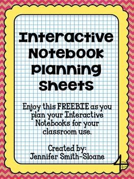 Interactive Notebook Planning Sheets {FREEBIE}  Lots of information from the author of these sheets about how they use their interactive notebooks.