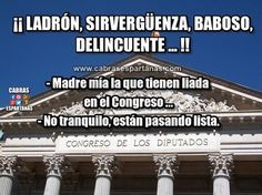 Congreso de los diputados pasando lista