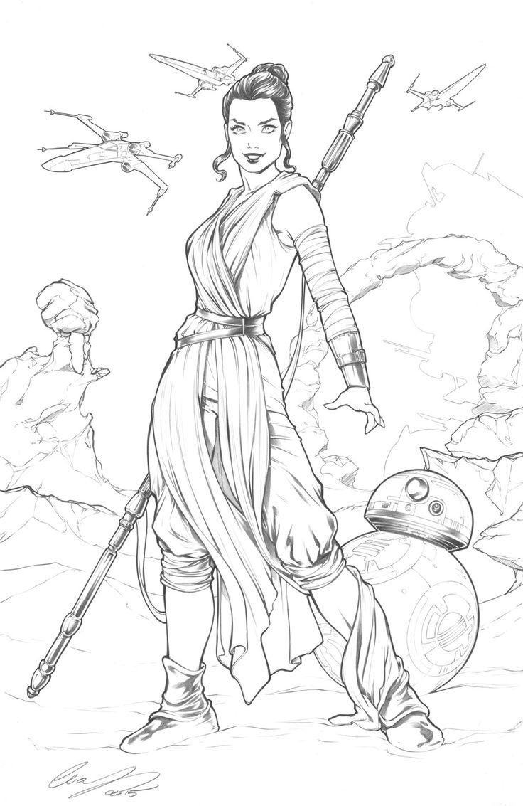 Rey Star Wars Star Wars Coloring Book Star Wars Drawings Rey Star Wars