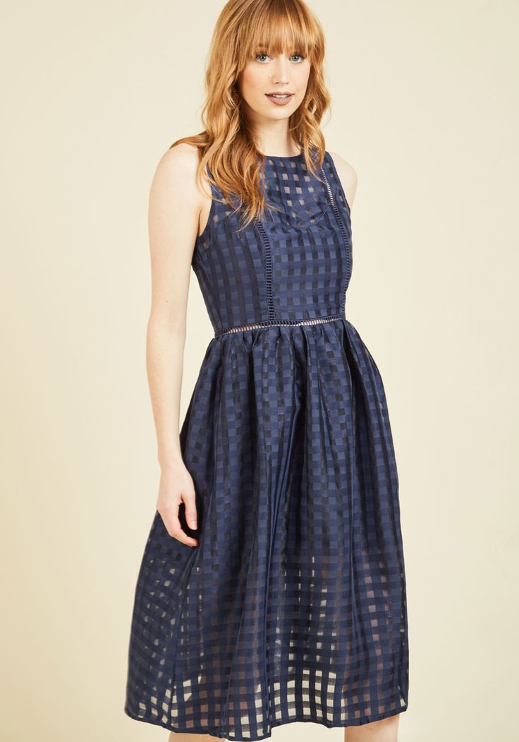 Ever-So-Engaging Midi Dress | Mod Retro Vintage Dresses | ModCloth.com