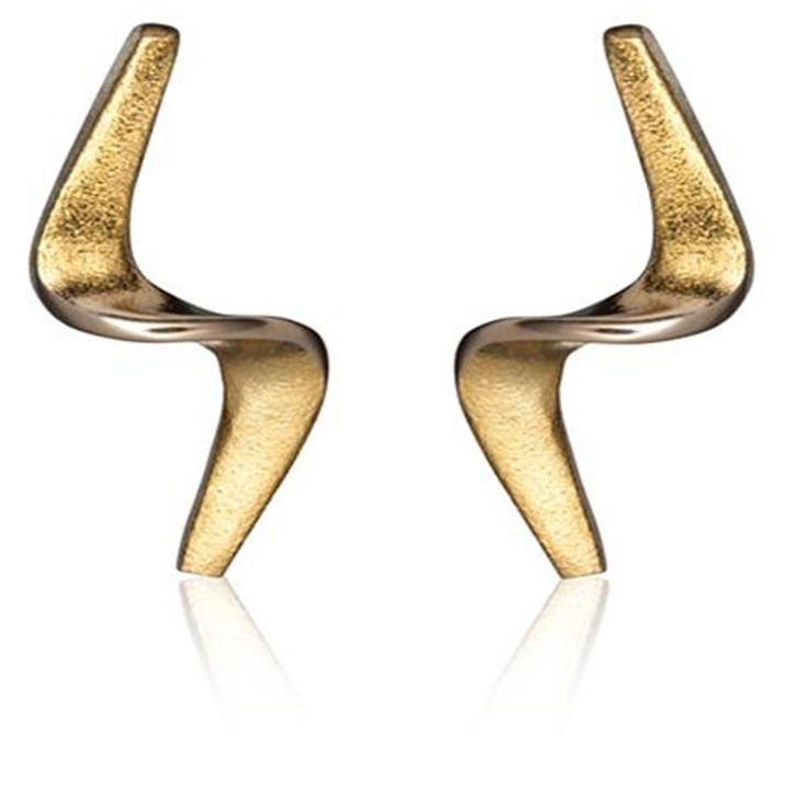 DANCING WIND  Design Chao-Hsien Kuo / Gold Earrings / Lapponia Jewelry / Handmade in Helsinki