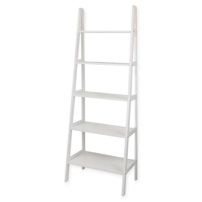 5 Shelf Ladder Bookcase Ladder Bookcase Bookcase White Bookcase