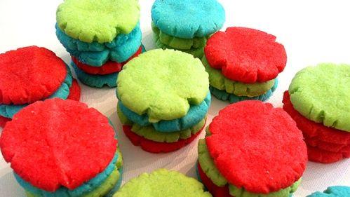 Biscuits colorés