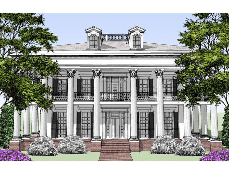 Plan 052h 0073 find unique house plans home plans and for Historic plantation house plans