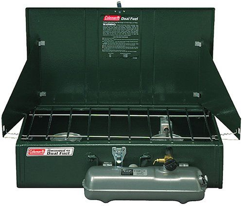 Coleman 2-Burner Dual Fuel Powerhouse Liquid Fuel Stove. Details at http://youzones.com/coleman-2-burner-dual-fuel-powerhouse-liquid-fuel-stove/