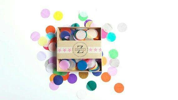 Zippitys rainbow confetti www.etsy.com/shop/zippitys