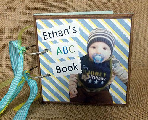 ABC Board Book- so cute! #DIY #picturebook #boardbook