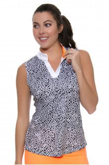 Golf Clothes | JoFit Sonoma Sport Golf Victory Crocodile Print Sleeveless Shirt : GT124