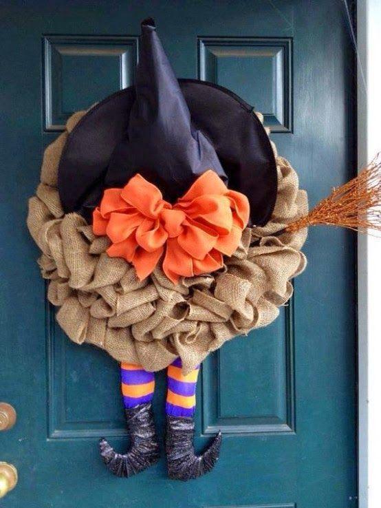 22 Grinaldas de Halloween porta de entrada ~ Decoração e Ideias | casa e jardim