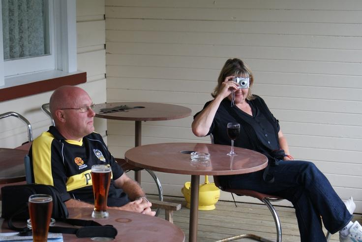 Whangomomona Hotel Balcony - Tony & Judith Gerrard