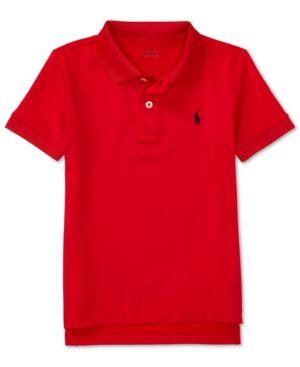 Ralph Lauren Stretch Jersey Polo Shirt, Toddler & Little Boys (2T-7) - Red 7