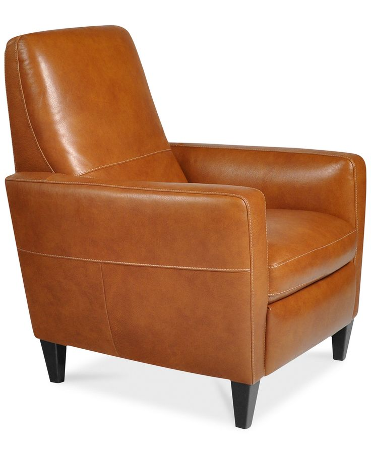 Tufted Sofa Asher Leather Recliner Chair Recliners Furniture Macy us brown leather Dimensions