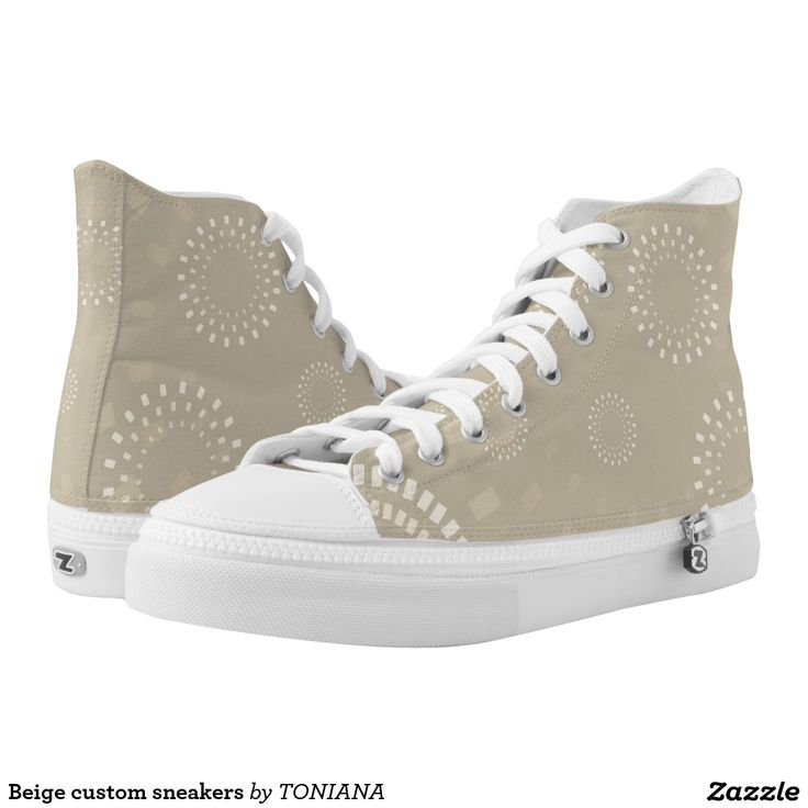 Beige custom sneakers