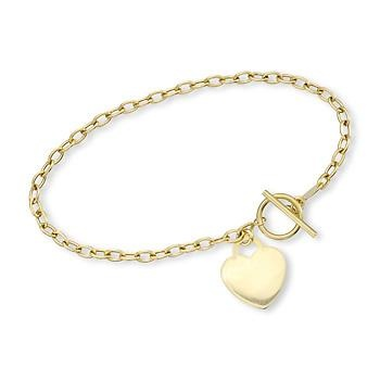 Yellow Gold Heart Charm Bracelet. This shiny heart is a refined expression of love. #valentinesday #love Click the charm to see more!