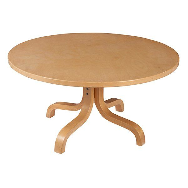 Ilmari Lappalainen;  Birch Coffee Table for Asko, 1960s.