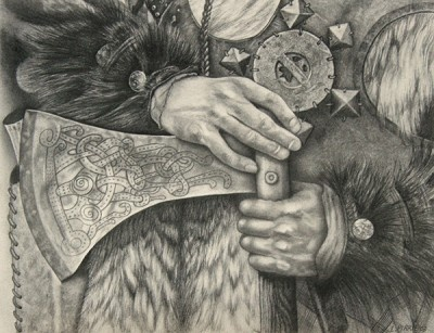 'William Wallace 1' c. 2008, pencil on paper by Lorna Pirrie.