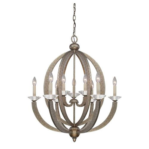 Forum Gold Dust Nine Light Chandelier