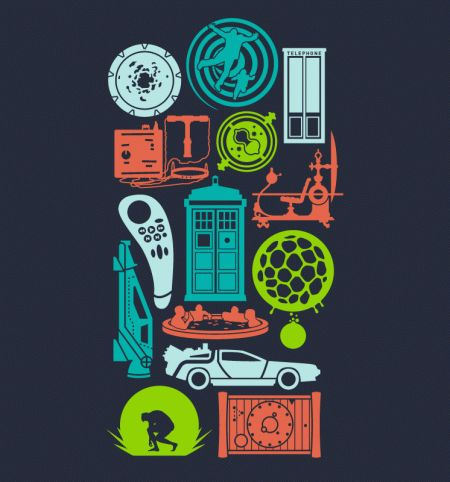 Time Machines - BustedTees - History's greatest tools for changing history.