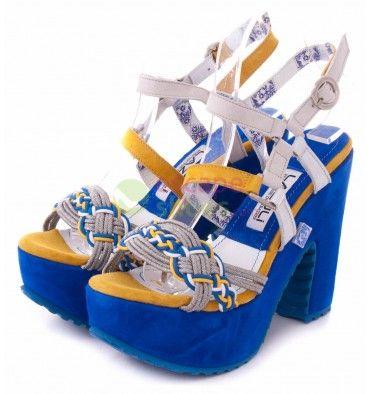 Sandals LAZULI Sao Bento 07 White Yellow Blue - EscapeShoes http://www.escapeshoes.com/54_lazuli