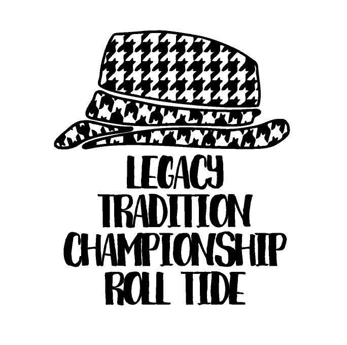 Paul Bryant Bear Legacy Tradition Championship SVG Alabama Roll Tide Inspired Bama Football College Sec National Champs University by SouthernCharmPaperie on Etsy