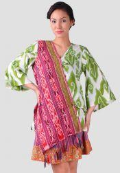 TRE Batik  TRE Batik Blouse Batik Tenun Hijau Merah