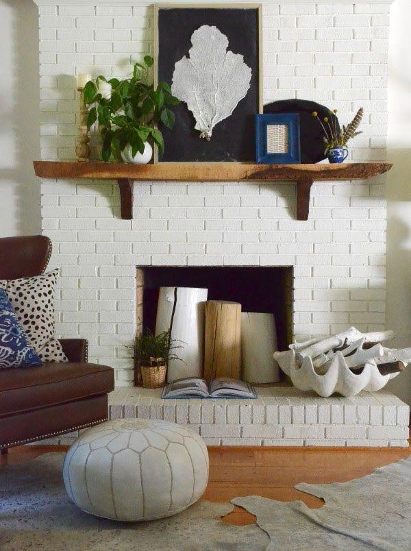 Summer fireplace foyer chemin e et manteau - Manteau cheminee decorative ...