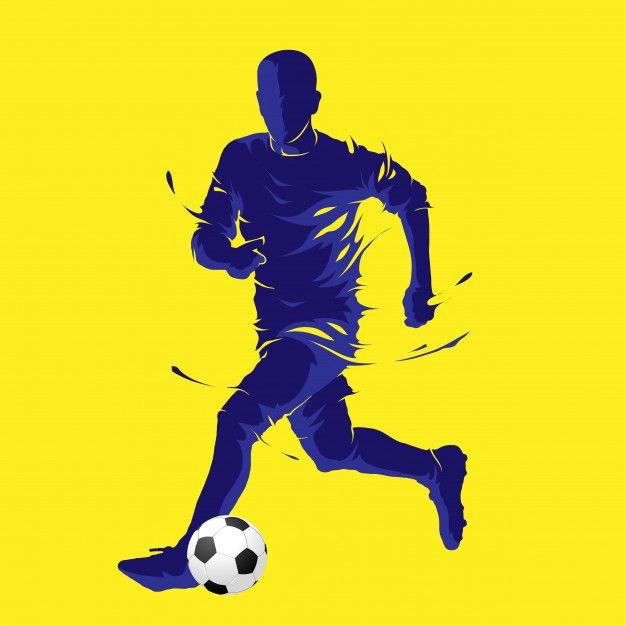 Football Soccer Ball Posing Blue Silhouette In 2020 Soccer Ball Football Soccer Soccer