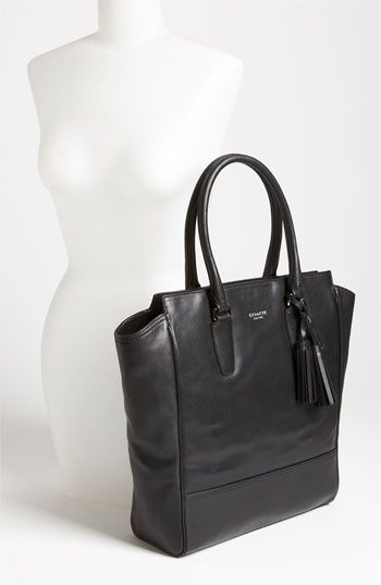Wardrobe Basics: Black Leather Tote (looks sharp and leather will last a long time).