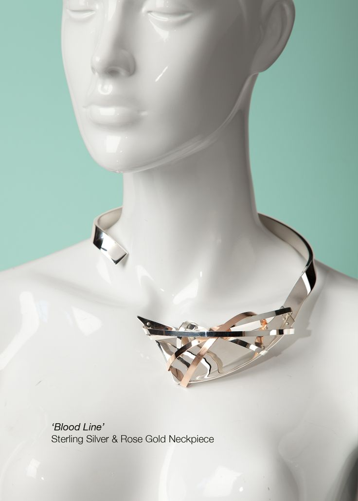 Sterling silver and rose gold neck peice.
