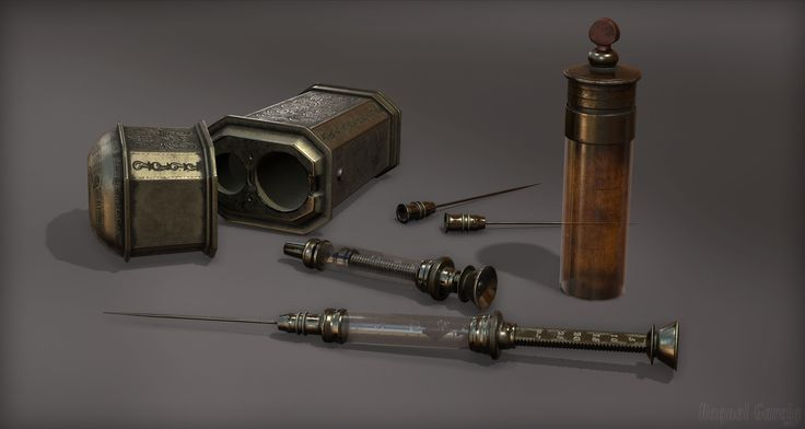 ArtStation - 1800's Cased Syringe Set, Raquel Garcia