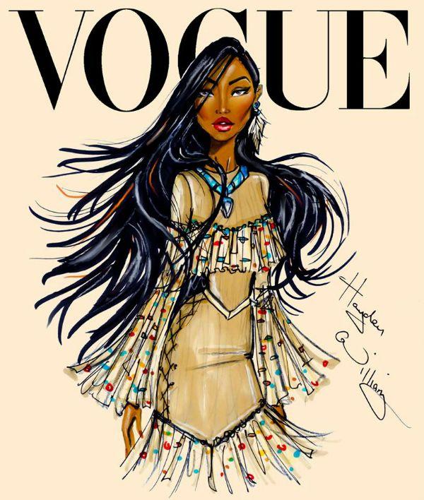 Disney Divas from Hayden Williams for Vogue, Pocahontas from Pocahontas #pocahontas #disneyprincess
