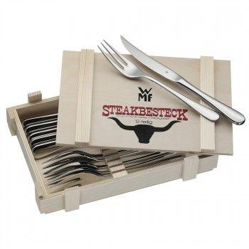 Steakbesteck 12-teilig in Holzkiste - Steakbesteck - Spezialbesteckteile - Besteck