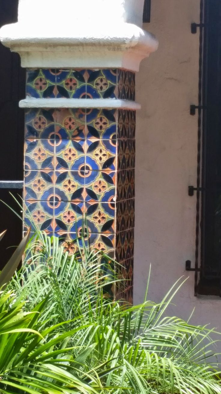 177 best avente tile blog images on pinterest cement tiles spanish tile on a homes entry column circa 1928 ppazfo