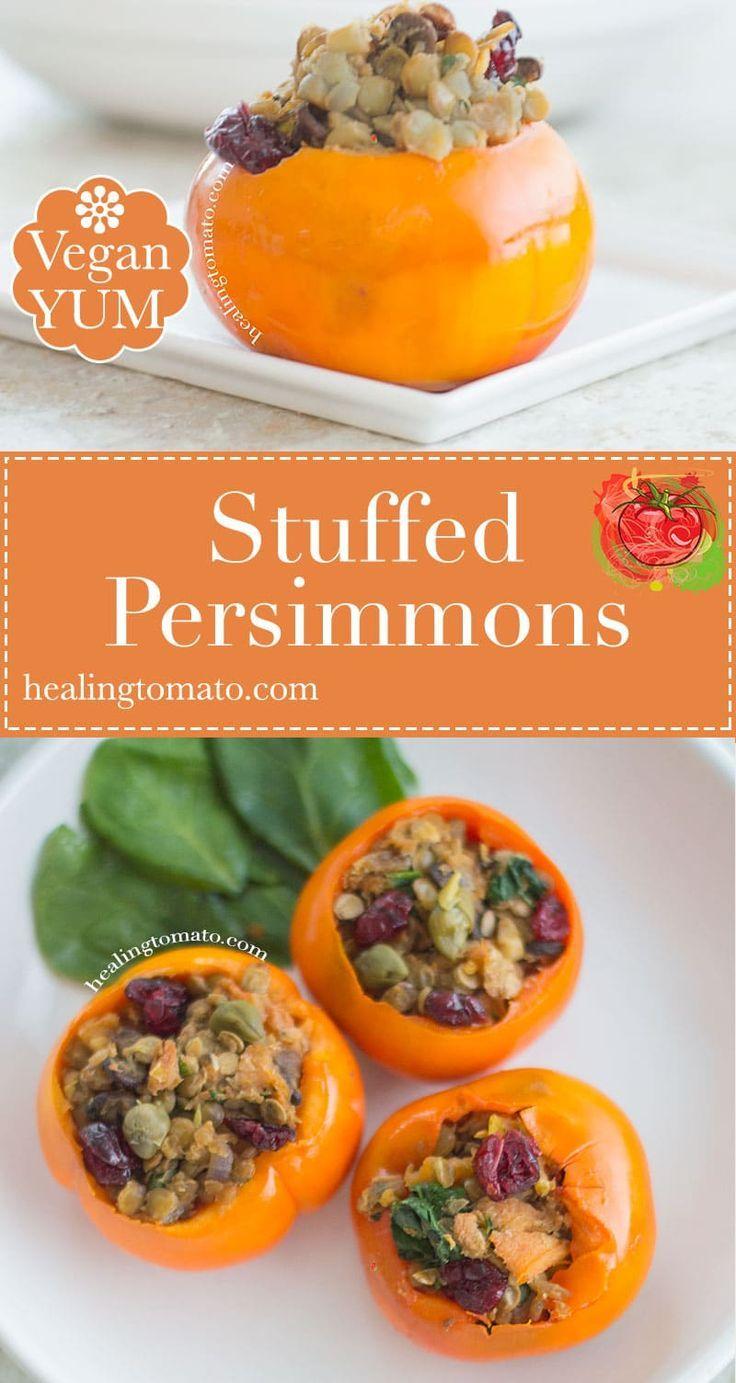 Savory Stuffed Persimmons
