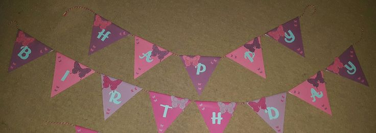 Paper happy birthday bunting. Each flag is made from good quality paper, and measures approximately 12cm. Colour and images can vary to suit your…