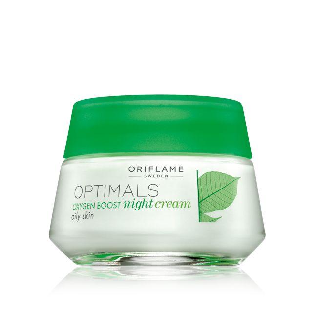 Crema de Noche Oxygen Boost para Piel Grasa Optimals #oriflame