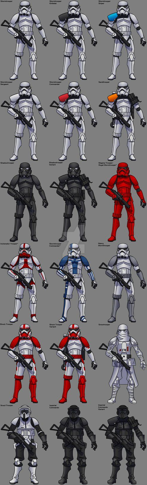 Since I did that first stormtrooper, I've been comprising a PSD for myself to use as a sort of reference for the different Stormtrooper Corps variants. This PSD was also to be used by my friends to...