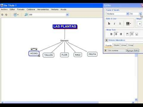 Tutorial de Cmaptools: Mapas Conceptuales