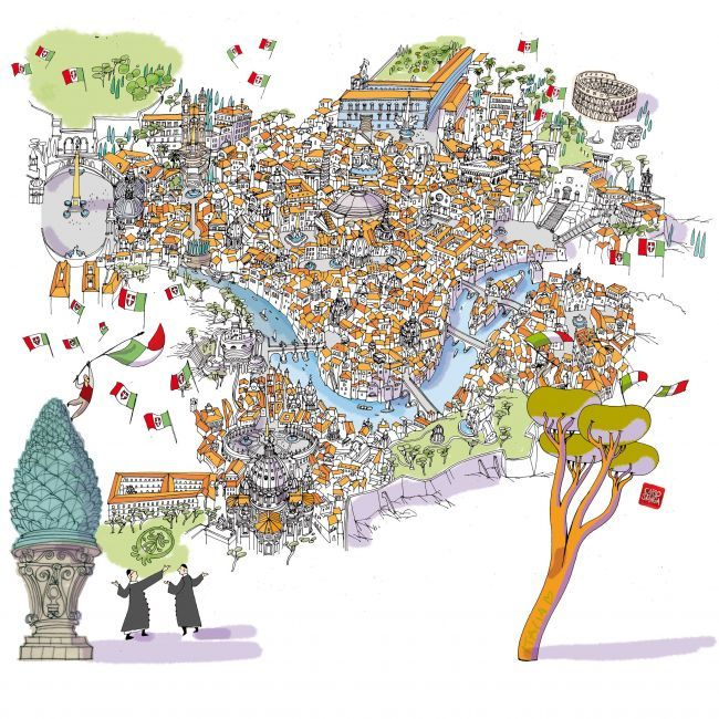 Rome Map by Carlo Stanga.