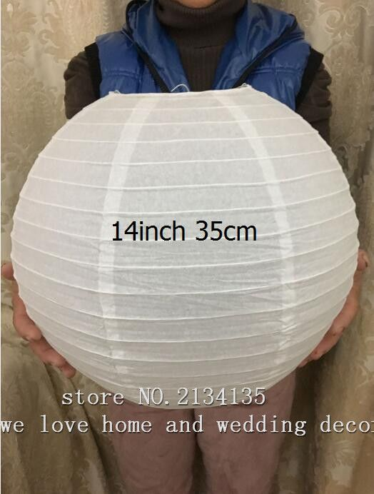 14 ''(35 cm) 10 Pçs/lote Chinesa redonda da lanterna de papel lâmpada festival decoração Decoração Do Casamento Lampião glim festa decoração de natal em Lanternas de Home & Garden no AliExpress.com | Alibaba Group