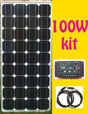 100W-Solar-Panel-Kit-panneau-solaire-charge-controller-regulateur-RV-cottage