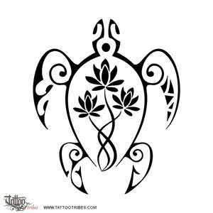 turtle tattoos - one for each of my sisters and I but with the number of flowers the order they came. I would have one flower, Holly would have two, and so on.